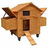 Rollbarer Hühnerstall inkl. 2 Nestboxen und Rampe